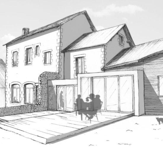 Réhabilitation d'une ancienne école/mairie.